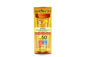 Крем для лица солнцезащитный с витамином Е SPF 50 Биокон 25мл
