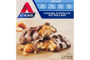 Atkins Caramel Chocolate Nut Roll - 5 CT