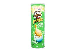 Чипсы картофельные со вкусом сметаны и лука Pringles к/у 165г