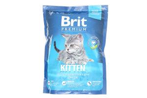 Корм Brit Premium д/кошенят сухий з куркою 300г
