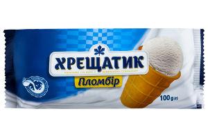 Морозиво 15% жиру в вафельному стаканчику пломбір Хрещатик м/у 100г
