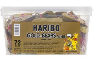 Haribo Gold-Bears Minis Gummi Candy - 72 PK