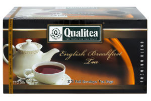 Чай чорний English Breakfast Qualitea к/у 25х2г