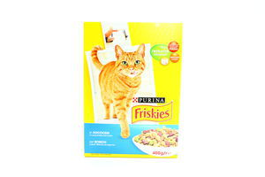 Корм д/кот Friskies сух лосось/тунец 400г