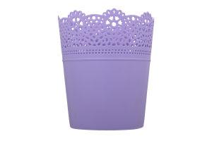 Горшок д/цвет Prosperplast Lace круг лаванда 115мм