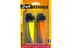 Scripto Designer Series Lighters Adjustable Flame - 2 PK