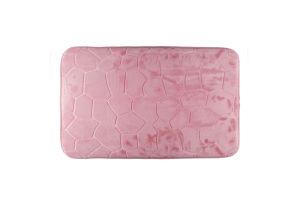 Коврик для ванной комнаты розовый 45*70см Оффтоп