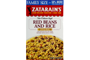 Zatarain's New Orleans Style Red Beans And Rice Original Family Size