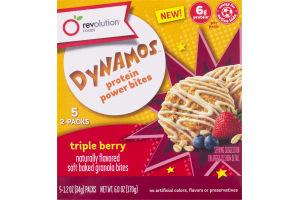 Revolution Foods Dynamos Protein Power Bites Triple Berry - 5 PK