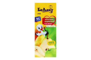 Сок для детей от 4мес Яблоко-груша Беллакт т/п 0.2л