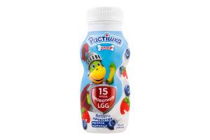 Йогурт 1.5% питний з пробіотиком Малина-чорниця Растішка п/пл 185г