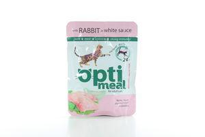 Корм для котов Защита иммунитета кролик в белом соусе мягкая упаковка Optimeal 85г