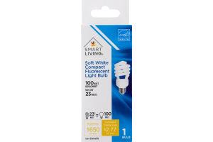 Smart Living Soft White Compact Fluorescent Light Bulb 100 Watt Replacement