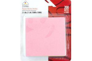 Smart Living Pastel Sticky Notes - 4 PK
