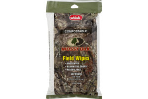 Whink Mossy Oak Field Wipes Unscented - 30 CT
