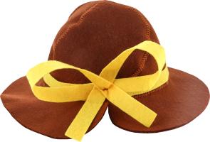 Шляпа для сауны искусственный фетр №А-252 Леди Шелтер груп 1шт