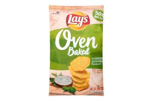 Чіпси картопляні запечені зі смаком йогурту з травами Lay's м/у 125г