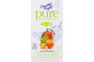 Crystal Light Pure Truvia Tangerine Mango Naturally Sweetened Drink Mix Packets - 7 CT