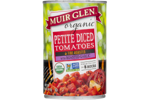 Muir Glen Organic Petite Diced Tomatoes Fire Roasted with Roasted Garlic