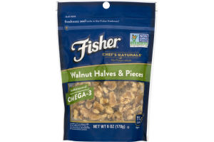 Fisher Chef's Naturals Walnut Halves & Pieces