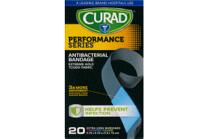 Curad Performance Series Antibacterial Bandage Assorted Colors - 20 CT