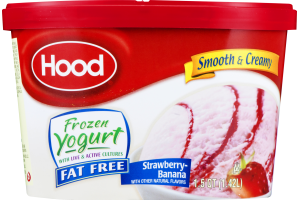 Hood Frozen Yogurt Fat Free Strawberry-Banana