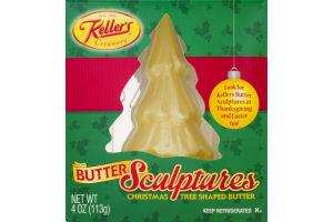 Keller's Creamery Butter Sculptures Christmas Tree Shaped Butter