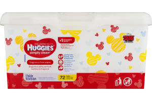 Huggies Wipes Simply Clean Fragrance Free - 72 CT