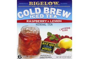 Bigelow Cold Brew Iced Tea Raspberry & Lemon Herbal Tea