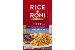 Rice-A-Roni Beef Lower Sodium