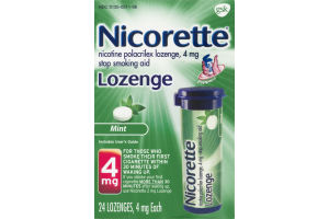 Nicorette Lozenge Stop Smoking Aid 4mg Mint - 24 CT