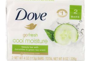 Dove Go Fresh Cool Moisture Beauty Bar with Cucumber & Green Tea Scent - 2 CT