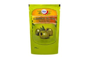 Оливки Повна Чаша зеленые без косточки дой-пак