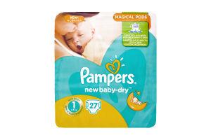 Подгузники детские 2-5кг Newborn New baby - dry Pampers 27шт