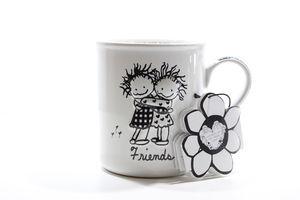 Чашка керамическая Друзья Enesco 0,4л