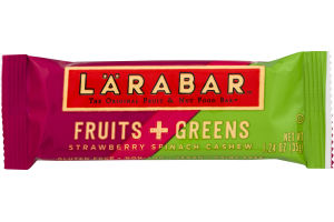 Larabar The Original Fruit & Nut Food Bar Fruit + Greens Strawberry Spinach Cashew