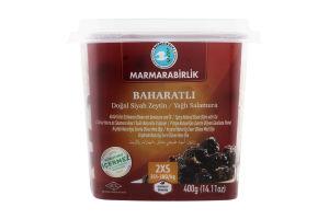 Маслины черные со специями Marmarabirlik п/у 400г