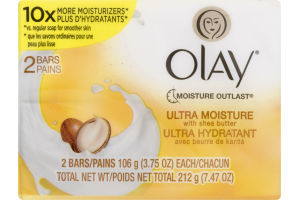 Olay Soap Bar Ultra Moisture with Shea Butter - 2 CT
