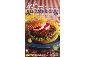 Amy's All American Veggie Burger - 4 CT