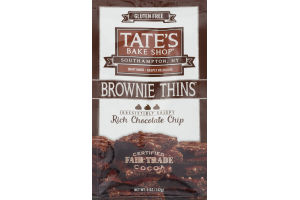 Tate's Bake Shop Brownie Thins Rich Chocolate Chip