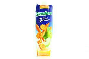 Сок морковно-яблочный Сандора Овощной коктейль т/п 0,95л