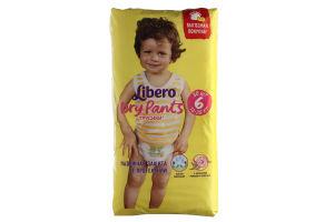 Підгузники-трусики Libero DryPants 6 XL 13-20 кг 30шт