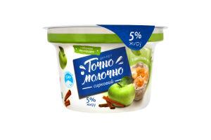 Десерт творожный 5% с джемом Яблоко и корица Точно Молочно ст 180г