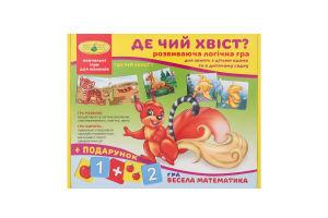 Гра логічна розвиваюча для дітей від 3років Де чий хвіст? Київська Фабрика Іграшок 1шт