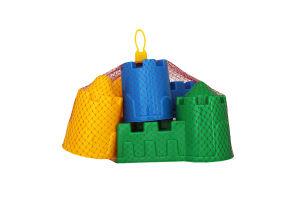 Формочки (замок мост + замок стена с двумя башнями + замок угловой + замок квадратный)