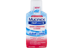 Mucinex Fast-Max Severe Congestion & Cough Clear & Cool Cough Suppressant