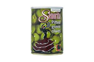 Оливки Сеньйорита зелені без кісточки 280мл ж/б