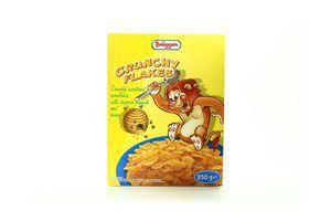 Хлопья кукурузные с арахисом и медом Crunchy Flakes Brüggen к/у 250г