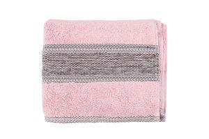 Рушник махровий рожевий 50х85см №ТР000001782 Fluffy Saffran 1шт