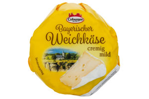 Сир Coburger Bayerischer Weichkase Cremig mild 150г х8